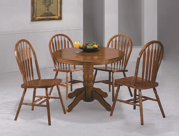 Ava Furniture Houston - Cheap, Discount Dining Room Set-Round dark