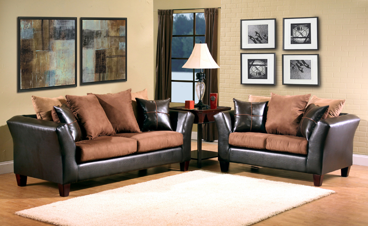 Ava Furniture Houston - Cheap, Discount Living Room Set-2 pc